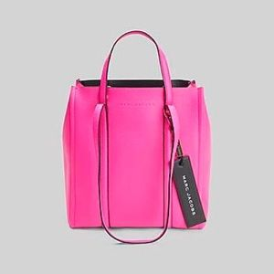 Marc Jacobs Neon Pink Tag Bag